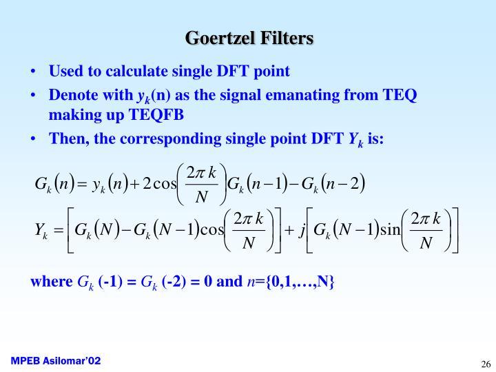 Goertzel Filters