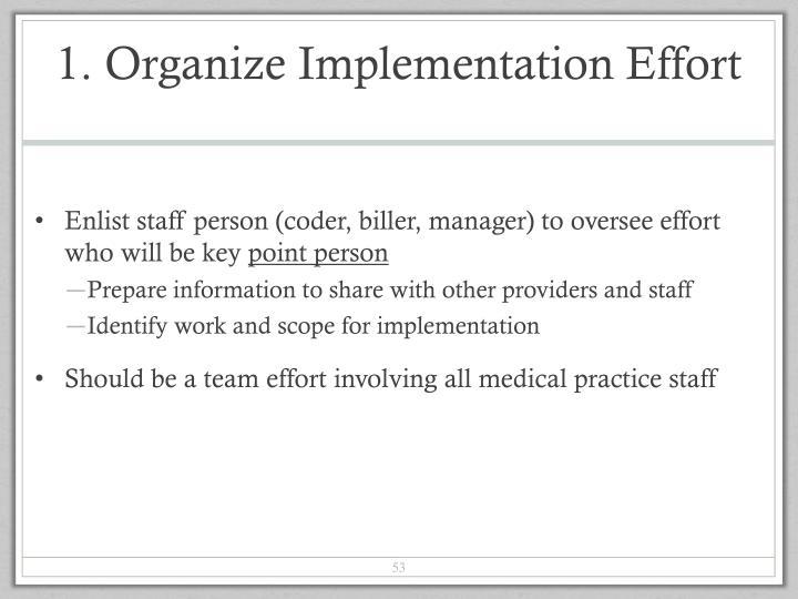 1. Organize Implementation Effort