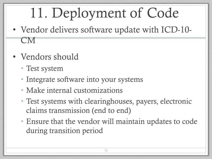 11. Deployment of Code