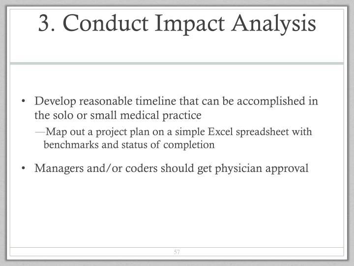 3. Conduct Impact Analysis