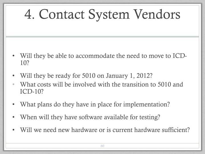 4. Contact System Vendors