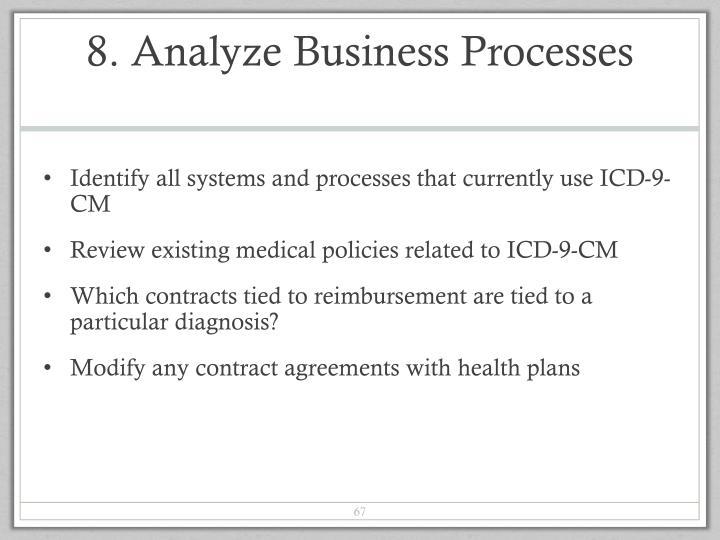 8. Analyze Business Processes
