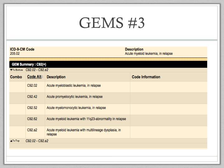 GEMS #3