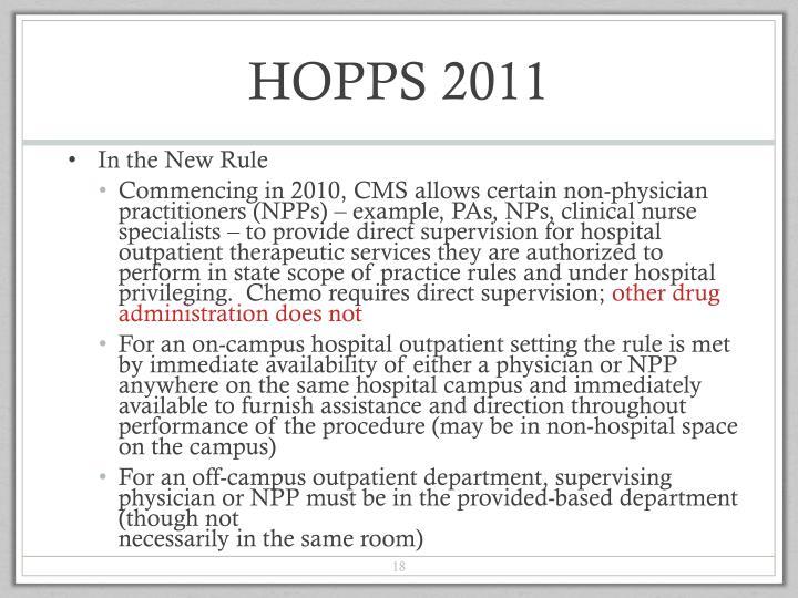 HOPPS 2011