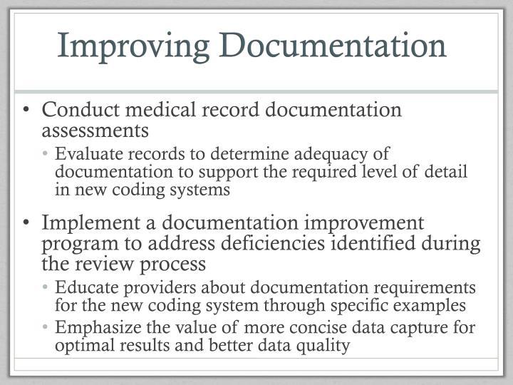 Improving Documentation