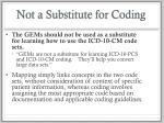 not a substitute for coding
