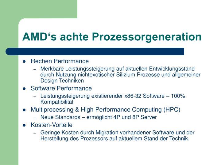 AMD's achte Prozessorgeneration