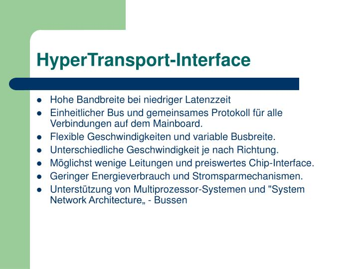 HyperTransport-Interface