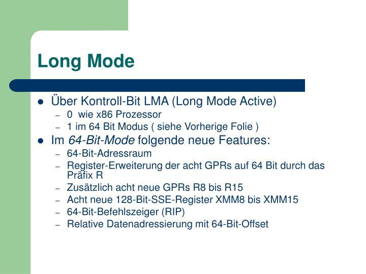 Long Mode