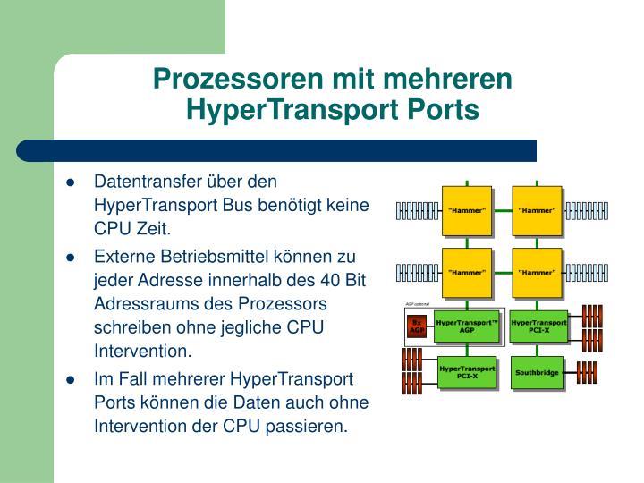 Prozessoren mit mehreren HyperTransport Ports