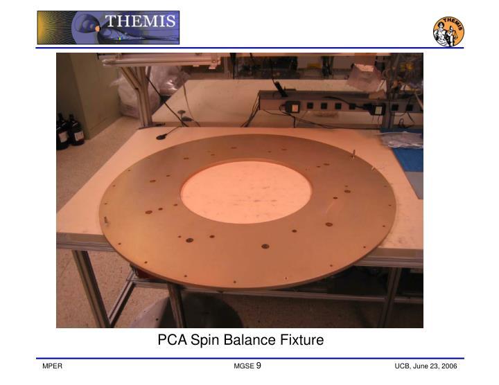 PCA Spin Balance Fixture