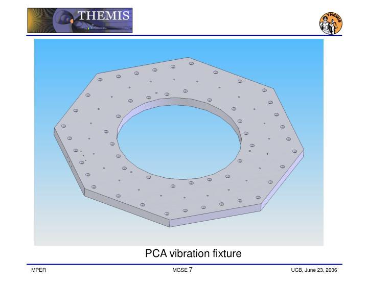 PCA vibration fixture