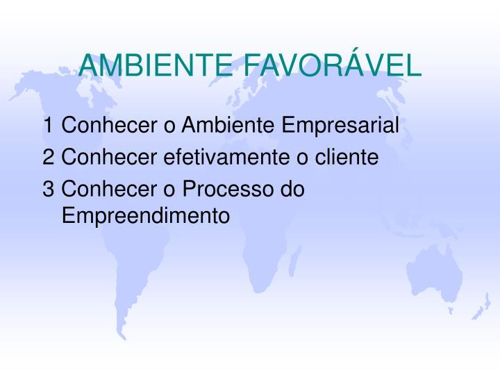 AMBIENTE FAVORÁVEL