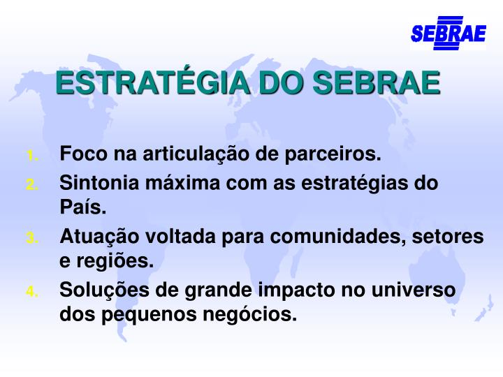 ESTRATÉGIA DO SEBRAE