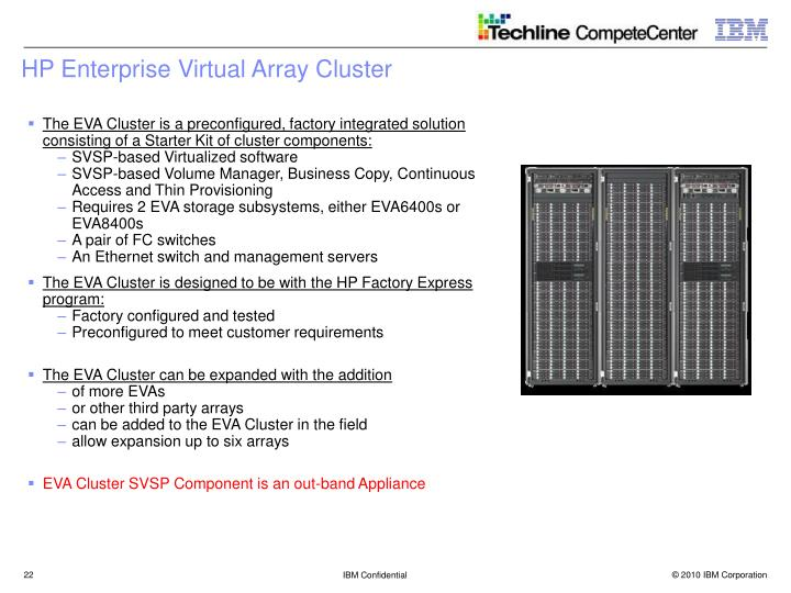 HP Enterprise Virtual Array Cluster