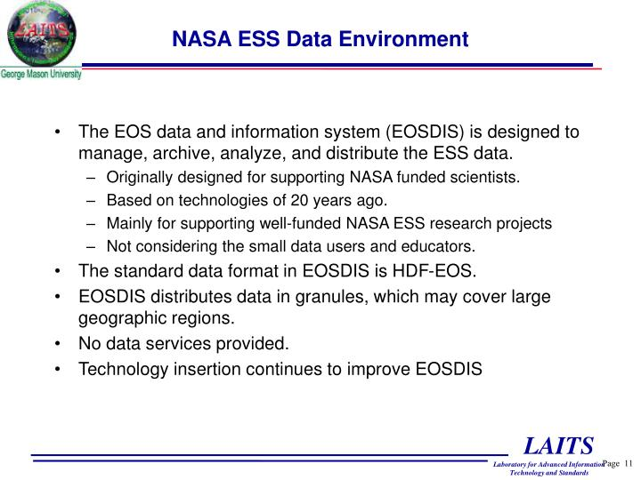 NASA ESS Data Environment