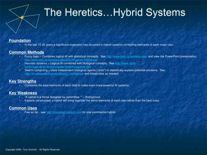 The Heretics…Hybrid Systems