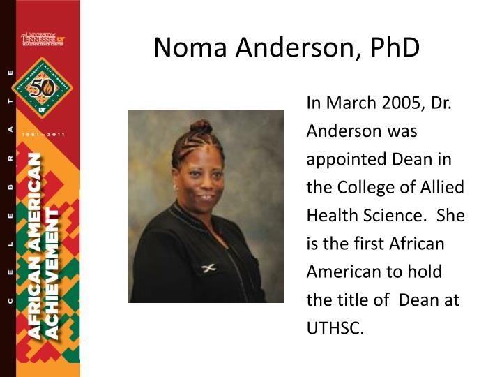 Noma Anderson, PhD