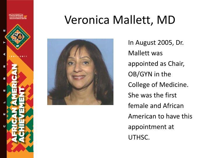 Veronica Mallett, MD