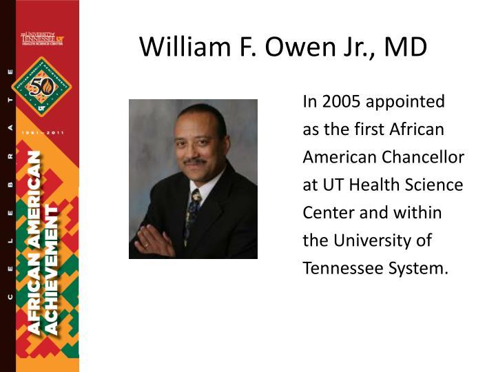 William F. Owen Jr., MD