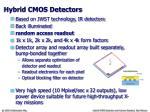 hybrid cmos detectors