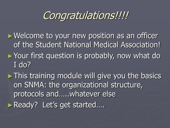Congratulations!!!!