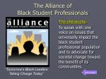 the alliance of black student professionals