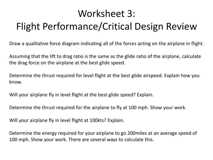 Worksheet 3: