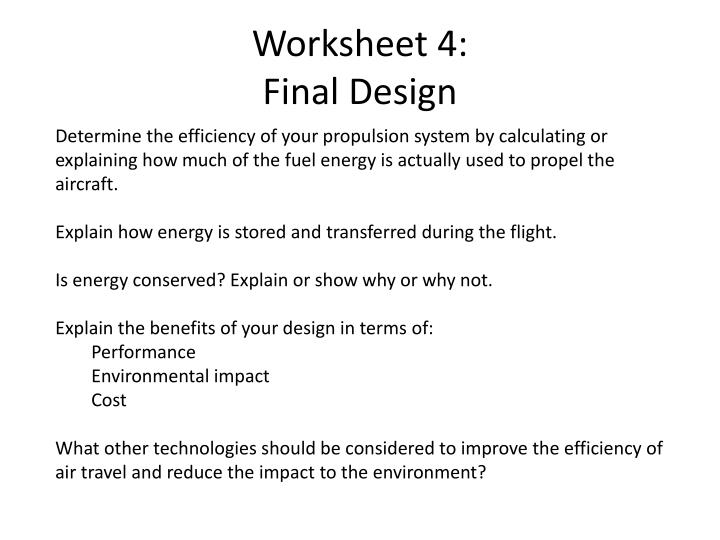 Worksheet 4: