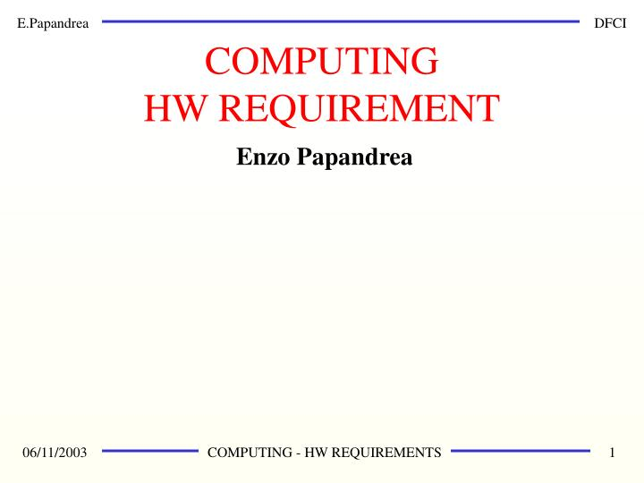 computing hw requirement