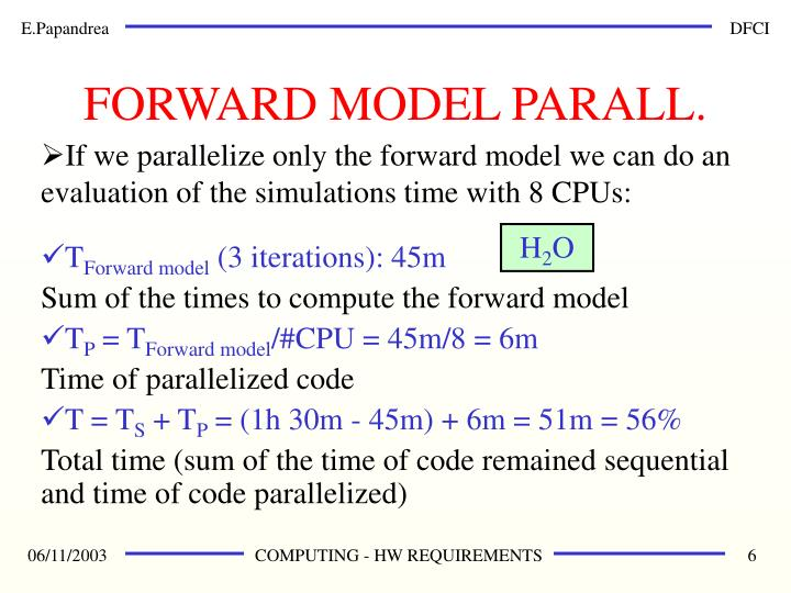 FORWARD MODEL PARALL.