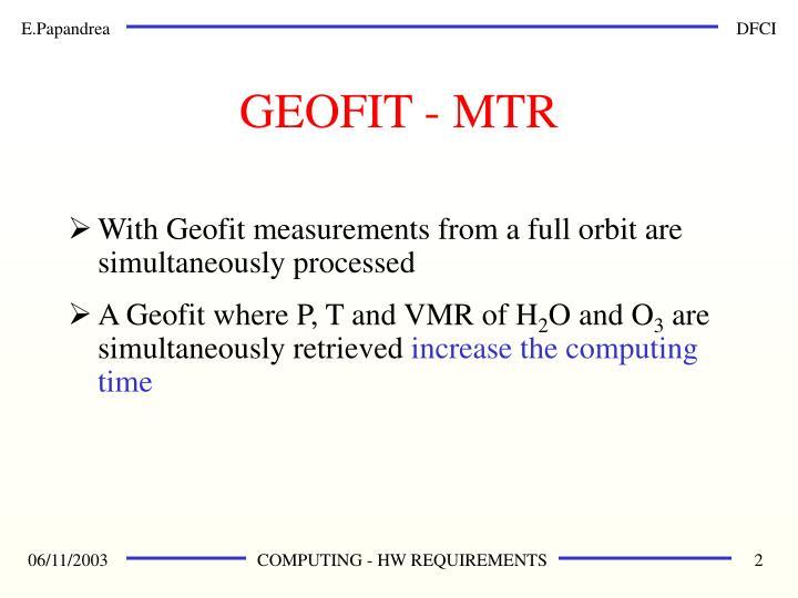 GEOFIT - MTR