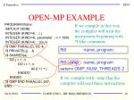open mp example