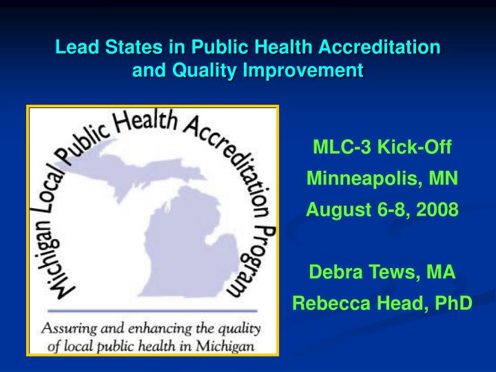 lead states in public health accreditation and quality improvement