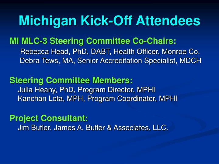 Michigan Kick-Off Attendees
