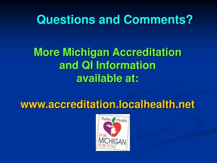 More Michigan Accreditation