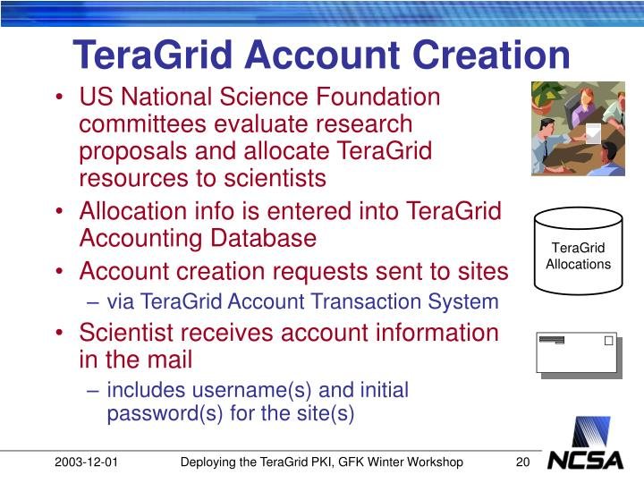 TeraGrid Account Creation