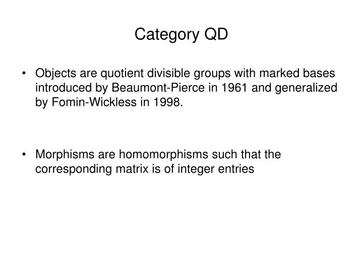 Category QD