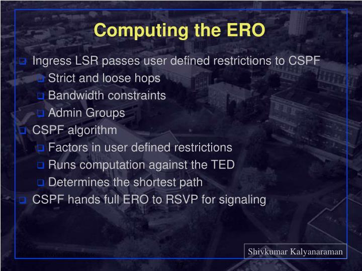 Computing the ERO