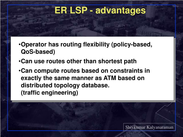 ER LSP - advantages