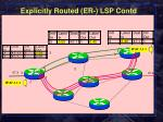 explicitly routed er lsp contd