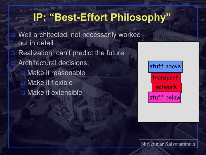 Ip best effort philosophy