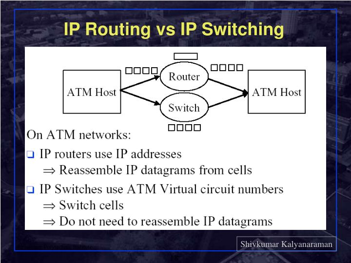 IP Routing vs IP Switching