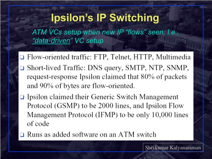 Ipsilon's IP Switching