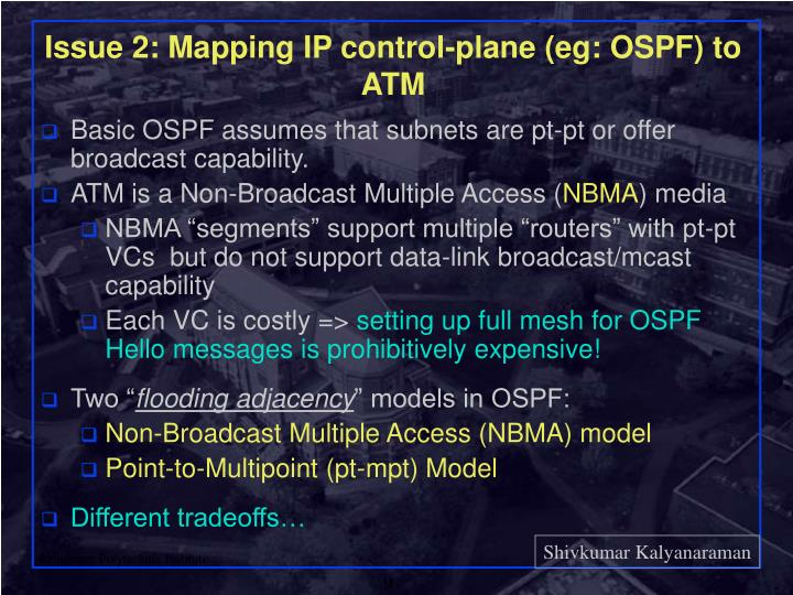 Issue 2: Mapping IP control-plane (eg: OSPF) to ATM