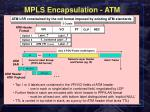 mpls encapsulation atm