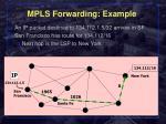 mpls forwarding example