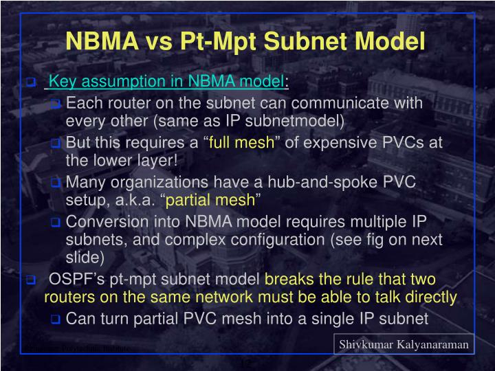 NBMA vs Pt-Mpt Subnet Model
