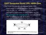 ospf designated router dr nbma case