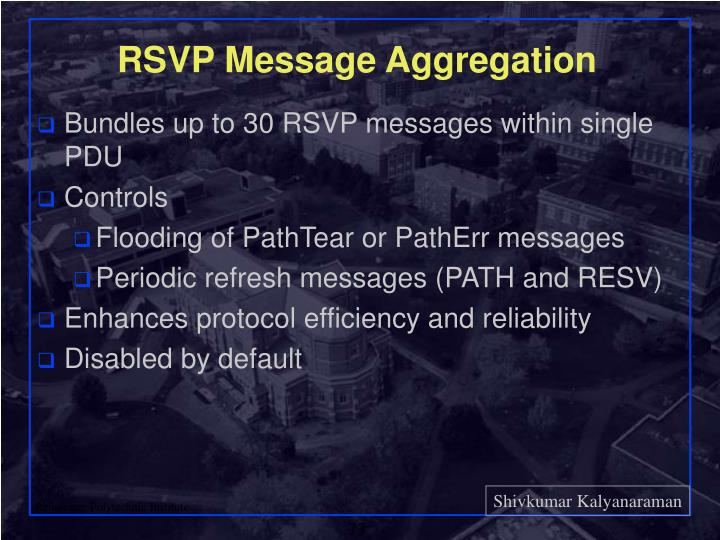 RSVP Message Aggregation